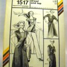 Pattern 1517 from Stretch & Sew(1982) - middy dress and top