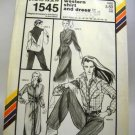 Pattern 1545 from Stretch & Sew(1980) - western shirt and dress