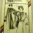 Pattern 1584 from Stretch & Sew(1981) -asymmetrical tie dress and blouse