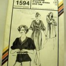 Pattern 1594 from Stretch & Sew(1981) -gathered v-neck dress and top