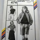 Pattern 474 from Stretch & Sew(1984) - walking shorts and skirt