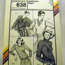 Stretch & Sew Pattern 638 - (1980) - pullover tops