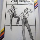 Stretch & Sew Pattern 709 - (1981) - pants with tailored or shirred waist