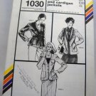 Pattern 1030 from Stretch & Sew(1981) - shawl and cardigan jackets