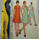 Pattern 3986 from McCall's (1974) Size 12 - misses' dress pattern