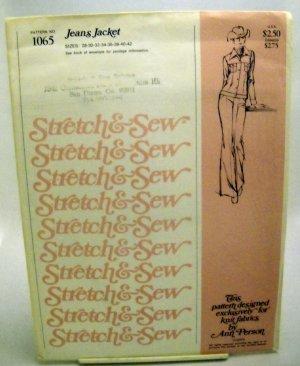 Stretch & Sew Pattern 1065 - (1974) - women's jeans jacket