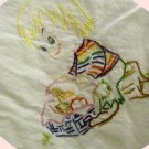 Hand Embroidered Kitchen Towel - Lunch With Me