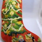 Completed Needlepoint Christmas Stocking  -  Christmas Tree