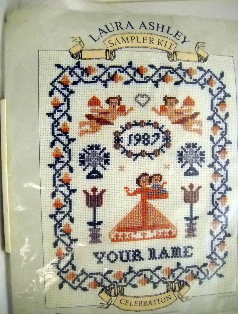 Counted Cross Stitch kit from Laura Ashley  -  Celebration Sampler Kit