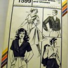 Pattern 1599 from Stretch & Sew(1982) - classic shirtwaist dress and blouses