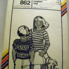 Pattern 862 from Stretch & Sew(1979) - children's raglan top