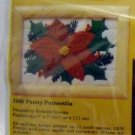 Longstitch Needlepoint kit from The Creative Circle (1981 Printed in USA ) - 2180 Pretty Poinsettia