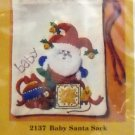 Embroidery kit from The Creative Circle (1981 Printed in USA ) - 2137 Baby Santa Sack