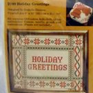 Counted Cross Stitch kit from The Creative Circle (1979 Printed in USA ) - 2160 Holiday Greetings