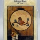 Applique Quilt Pattern from Honey Bee Patterns (1981) - Welcome Hoop #H2