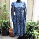 Laura Ashley Floral Print Corduroy Long Sleeve  Dress size 12 (UK 14)
