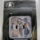 Counted Cross Stitch switchplate kit  from Fond Memories - Double toggle Dream Catcher