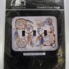 Counted Cross Stitch switchplate kit  from Fond Memories - Triple toggle Dream Catcher