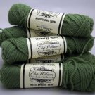 Elsa Williams Needlepoint Yarn 40 yd (36.6 meters) per skein - 7 skeins moss green N414