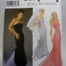Pattern 5237 from Simplicity Jessica McClintock (2004) multi size -  evening gown and veil pattern