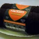 Red Heart Classic Yarn from Coats & Clark 3.5 oz (100 g) skein - Lot of 2 skeins color coffee