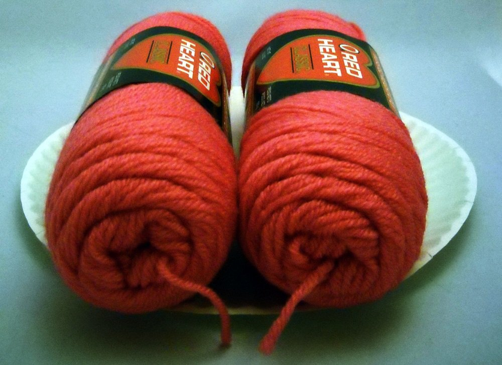 Red Heart Classic Yarn from Coats & Clark 3.5 oz (100 g) skein - Lot of 2 sks color 0730 grenadine