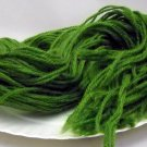 Bundle of 34 inch length 3 ply yarn strands - Parrot Green Dark