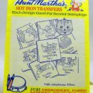 Aunt Martha's Hot Iron Transfers from Colonial Patterns, Inc. - 9180 Mischievous Kittens