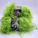 Lion Brand Fun Fur Yarn 64yd (58 meters) per 1-3/4 oz skein - 3 skeins lime color 194