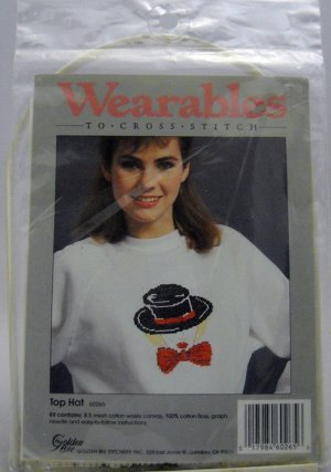 Wearables to Cross Stitch Kit from Golden Bee Stitchery Inc. - Top Hat 60265