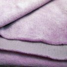 2 yds lavender Stretch velour fabric with crosswise stretch