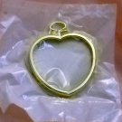 Gold Mini Heart Plastic frames from The New Berlin Co. - lot of 10 frames