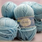 Phentex Chunky Yarn 114 meters (125 yards) 85 g (3 oz) skein - lot of 6 skeins aquarelle color 60