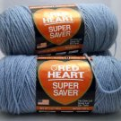 Red Heart Super Saver Yarn from Coats & Clark 7 oz (198 g) skein - Lot of 4  color Spa Blue 0883