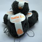 Natte Fin creation Georges Picaud paris yarn 1-3/4 oz (50 g) skein - Lot of 4  color smoke 38 1