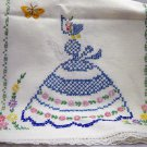 Hand Embroidered Southern Belle dresser scarf/table runner