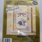 Counted Cross Stitch Kit from Candamar Designs Inc. (1992 Made in USA) - Sleeping Boy Bunny 50744