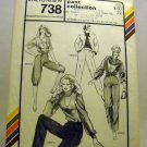 Stretch & Sew Pattern 738 - (1982) - pants collection