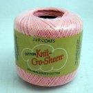 J & P Coats cotton Knit Cro-Sheen  150 yd Mercerised Crochet Cotton Thread - Mid-Rose color 46A