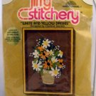 Embroidery kit from Sunset Designs Jiffy Stitchery (1978)  - 223 White and Yellow Daisies