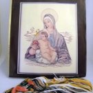 Vintage Paragon Crewel Embroidery Kit (1980) - Madonna and Child  #0514
