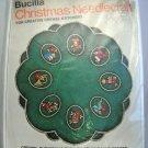 Bucilla Crewel Jeweled Christmas Tree Skirt or Table Center Embroidery Kit  #1875