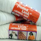 Malina Frosted Look lustrous yarn 7 oz  skein - Lot of 4  color frosted white 8446