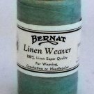 Bernat Linen Weaver 2 oz 375 yds  100% Linen Thread - Medium Blue Green 8083
