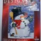 Designs For The Needle Christmas Traditions Counted Cross Stitch Kit - Snowman with Birds #309847