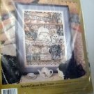 "Candamar Needlepoint Kit (1992 Made in USA)  - ""Persian Cats on Shelf Picture"" #30778"