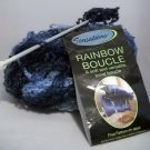 JoAnn Sensations Rainbow Boucle Yarn 11oz, 312 grams, 853 yards, 780 meters- Dk Blue 1015