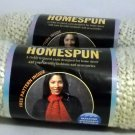 Lion Brand Homespun Yarn 6 oz, 170 gms,185 yds,169m  - Lot of 2 skeins cream 393
