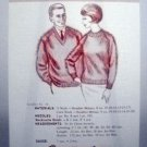 Vintage Leaflet No. 16 Oregon Worsted Co. - Heather Raglan Sweaters, V Neck or Crew, for Her or Him