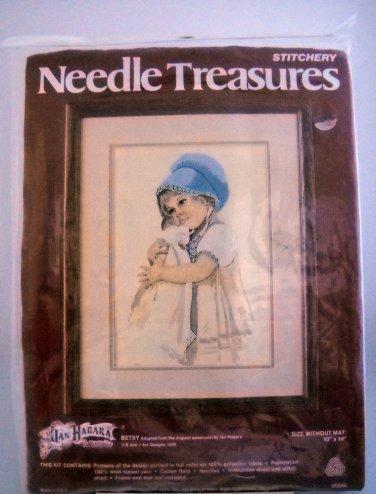 Vintage 1979 Needle Treasures Crewel Kit # 00544 Betsy